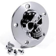 Para Harley-Davidson Twin Cam bike 99 - 3d Skull ignición tapa cromo calavera
