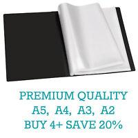 Premium A5/A4/A3/A2 Black Display Book Presentation Folder Portfolios (Tiger)