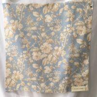 Ralph Lauren Sarah Floral Sky Blue Home Dec Fabric Sample Material 26x27 Inches