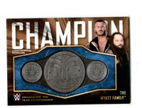 WWE Wyatt Family 2018 Topps Bronze Tag Team Title Belt Plate Relic Card SN 57/99