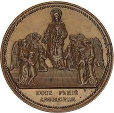 M2657 Médaille Religieuse Communion Confirmation Ecce Panis Angelorum Blondelet