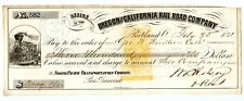 1871. Portland, Oregon Revenue Railroad Check.