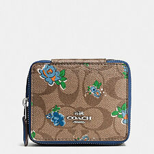 NEW COACH  Jewelry Box in Floral Logo Print  Kkaki/ Blue Multicolor F57589 $95