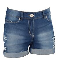 Womens Stretchy Denim Shorts Ripped  Half Pant Hotpants