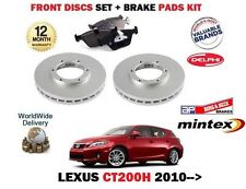 FOR LEXUS CT200H 1.8 HYBRID 2010-> NEW FRONT BRAKE DISCS SET + DISC PADS KIT