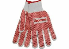 NEW Supreme Grip Work Gloves White Red 100% Authentic Limited SS18 Accessories