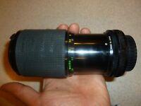 Rokinon Macro Auto Zoom 80-200MM f:4.5 Camera Lens with Canon FD Mount