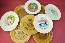 """Lot de 9 assiettes """"Fromages de France"""" en faïence de Saint-Amand France"""