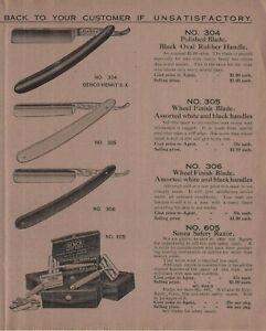 Straight Razor Genco Senca Canandaigua NY 1921 Vintage Brochure Barber Shaving