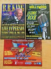 BB KING DAVID ELLEFSON & PF SLOAN 3 AUTOGRAPHED VENUE CARDS ALL SIGNED IN PERSON