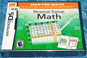 PERSONAL TRAINER MATH NINTENDO DS BRAND NEW SEALED FAST FREE SHIPPING NES LEARN