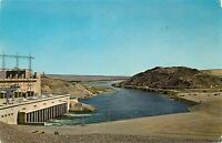 Chrome Postcard AZ E233 Davis Dam Looking Toward Bullhead City Unposted
