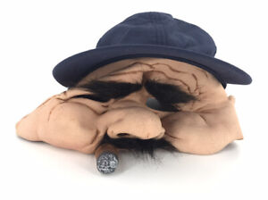 ADULT ZAGONES STAN THE MAN OLD MAN WITH CIGAR MOVEABLE MOUTH MASK COSTUME KM