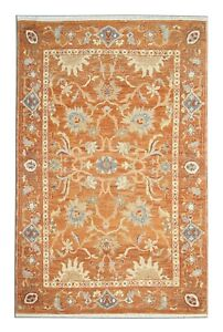 Handmade Carpet Oriental Rust Wool Floral Area Rug 122x180cm