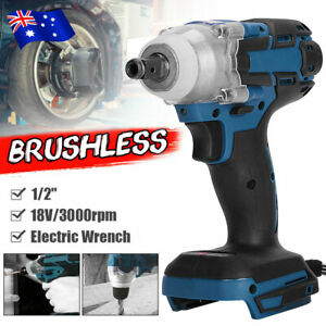 18V Cordless Brushless Impact Wrench Driver Tool Replace Body For Makita Battery