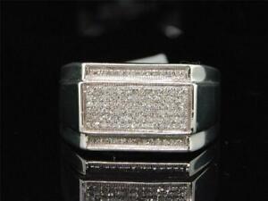 Men's Glamorous Pave Set Wedding & Engagement Ring 14K White Gold 4.03Ct Diamond