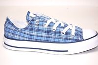Converse All Star CT Plaid OX 108689F Blue Canvas Shoes Men