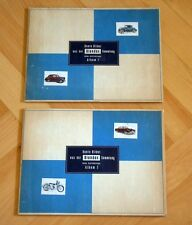 """2x SAMMELALBUM """" BUNTE BILDER AUS DER BLENDAX SAMMLUNG """" KRAFTFAHRZEUGE 1+2"""