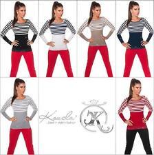 Gestreifte Feine Damen-Pullover & Strickware mit Taillenlang ohne Verschluss