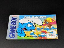 The Smurfs Instruction Manual Nintendo Game Boy NRMT condition
