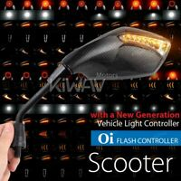 Fist LED Mirrors Carbon Flash Control  M8 1.25Pitch for Vespa GTS GTV GT LX LXV