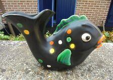 Petit vase en céramique noire  forme poisson design  50  DN1228