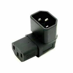 Up Direction Right Angled 90 Degree IEC Female C13 to IEC Male C14 Power Adapter