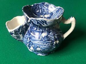 vintage shaving mug old foley james kent blue and white used staffordshire engla