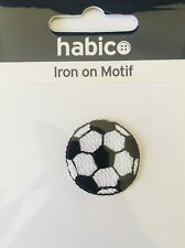 Habico Small Football Sport Iron On Motif Patch Child or Adult Embellishment