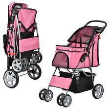 Pro.tec Hundewagen Pet Stroller Hundebuggy Roadster Inkl. Einkaufstasche Pink