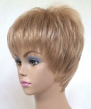 SHORT STRAIGHT HAIR EDGY TAPERED W/ POINT CUT LAYERS PIXIE WOMEN LADY BIJOU WIG