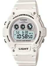 Casio W214HC-7B Unisex Glossy White Chronograph Alarm LCD Digital Sports Watch