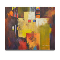 NY Art - Blooming Colors Abstract 20x24 Original Oil Painting on Canvas!