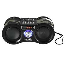 Tivdio Fm Stereo Radio Mini Digital Speaker Mp3 Player with Remote Control F7F5