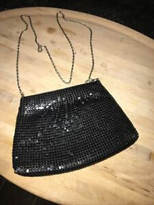 Suzy Smith Black Sequined Evening / Bag with chain strap