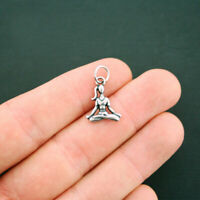 Yoga Pendant Charm Stainless Steel - With Jump Ring - Charm Lotus Charm - SC6191