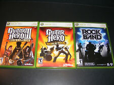 xbox 360 lot Guitar Hero Iii Legends of Rock, World Tour, & Rock Band, Tested!