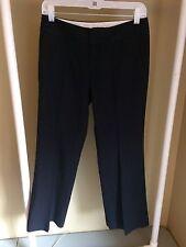 Banana Republic Women's Petite Striped Black Dress Pants Size 2P (28 X 27) L66