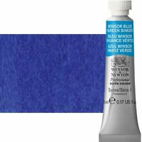 Winsor & Newton Professional Watercolor 5 ml Paint Tube Winsor Blue Green Shade