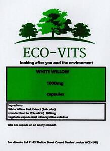 WHITE WILLOW BARK 1000mg 120 capsules