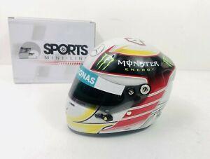 Lewis Hamilton 1/2 helmet arai bell 2014 f1 formula 1 model mini mercedes