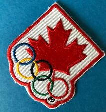 Rare 1994 Olympic Winter Games Lillehammer Team Canada Hat Hipster Jacket Patch