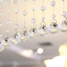Luxury Glass Crystal Clear Beads Hanging Curtain Home Wedding Bridal Decoration