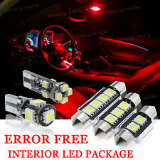 10x Bulbs For BMW E46 3 SERIES SALOON COUPE INTERIOR PACKAGE RED LED LIGHT KIT