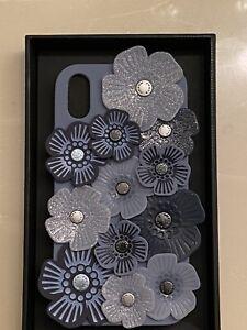 Coach  Compatible W  iPhone XR  Beauty Tea Rose Applique Case Coach Gift Box Bag