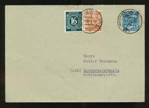 SBZ Nr. 173 VII MiF Sammlerbrief WITTENBERGE 24.6.48 n. NIEDERWÜRSCHNITZ (62293)