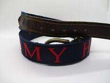 Tommy Hilfiger vintage authentic spellout logo USA nylon leather jeans belt 38