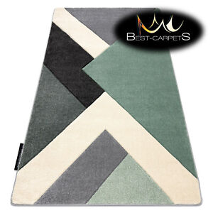 MODERN Amazing New design RUG 'ALTER ICE' geometric green / grey Best-Carpets