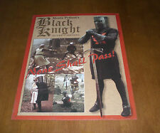 MONTY PYTHON'S BLACK KNIGHT SECURITY SERVICES TIN SIGN - NONE SHALL PASS
