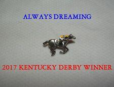 NEW ALWAYS DREAMING 2017 KENTUCKY DERBY #5 HORSE RACING JOCKEY SILKS PIN